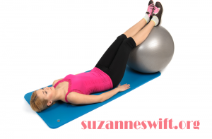 Stability ball hip lift